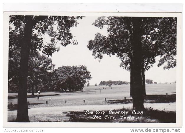 Iowa Sac City Country Club Real Photo