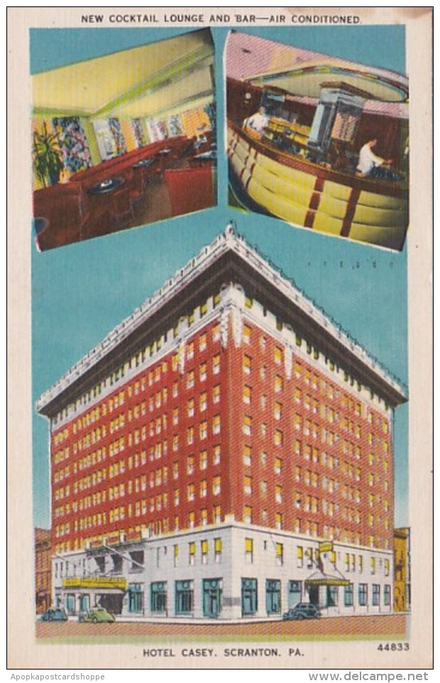 Pennsylvania Scranton Hotel Casey 1952