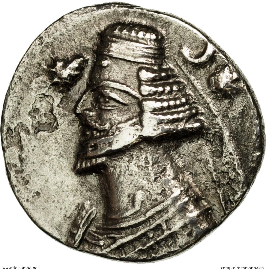 Monnaie, Royaume Parthe, Orodes II, Drachme, Ecbatane, TTB, Argent - Orientales