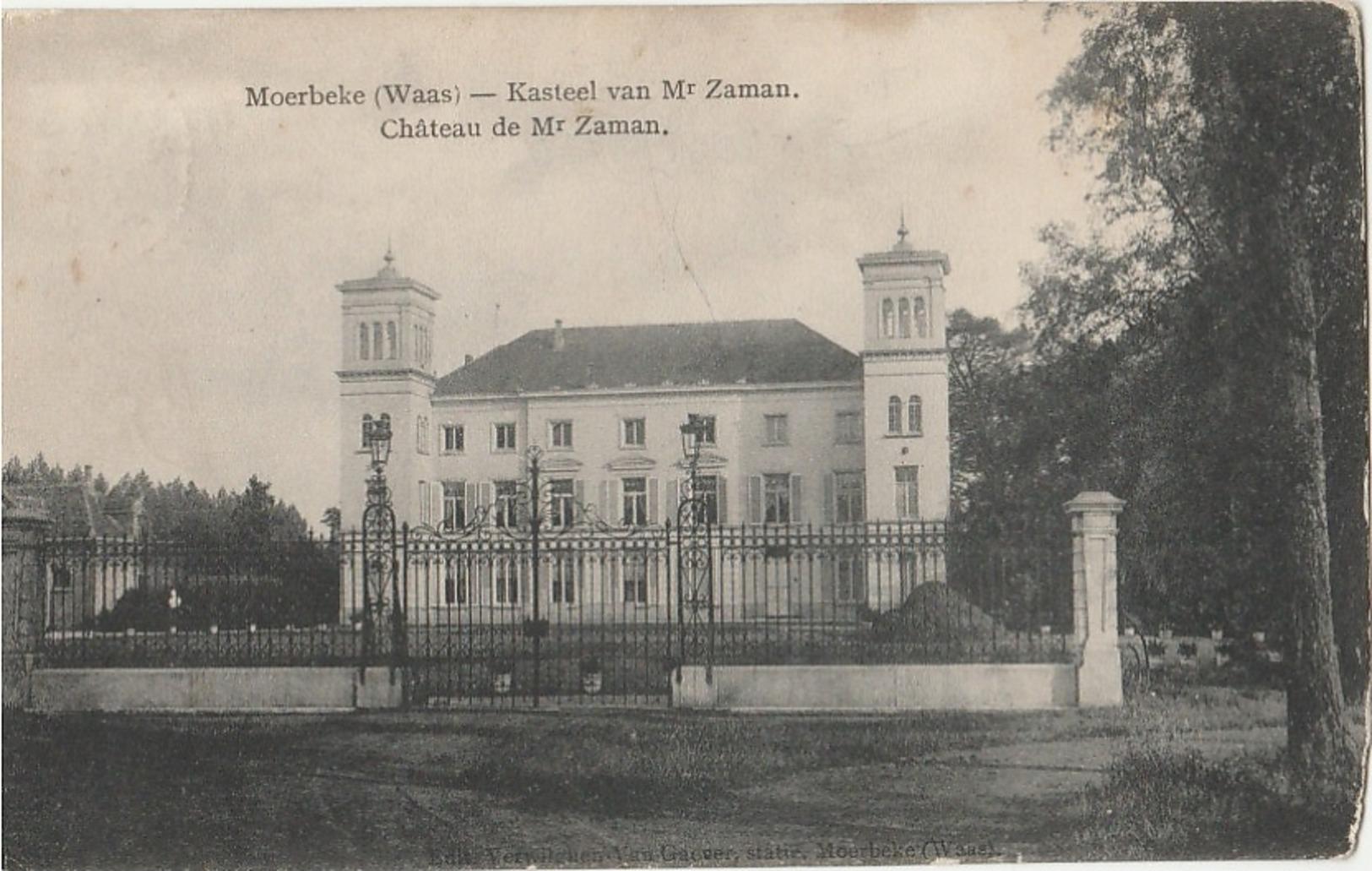 MOERBEKE WAAS Kasteel Van Mr. Zaman - Moerbeke-Waas