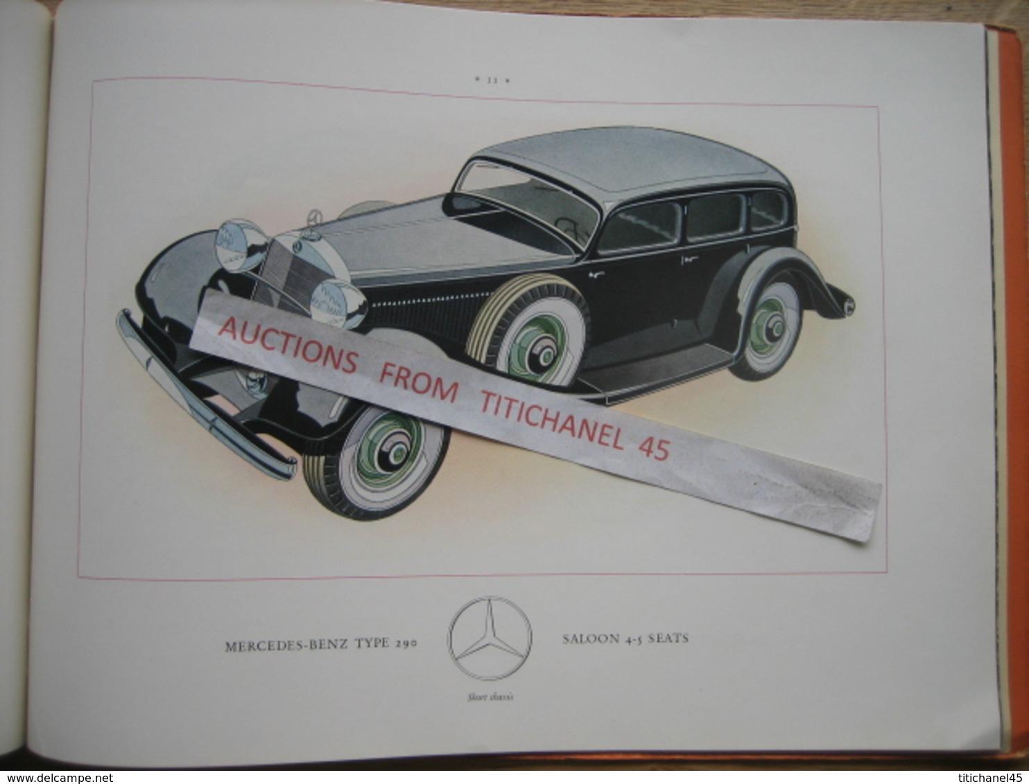Superbe Catalogue De 1935 Automobile MERCEDES-BENZ Type 290 - Illustré De 14 Modèles En Couleur - 32 Pages - Publicités