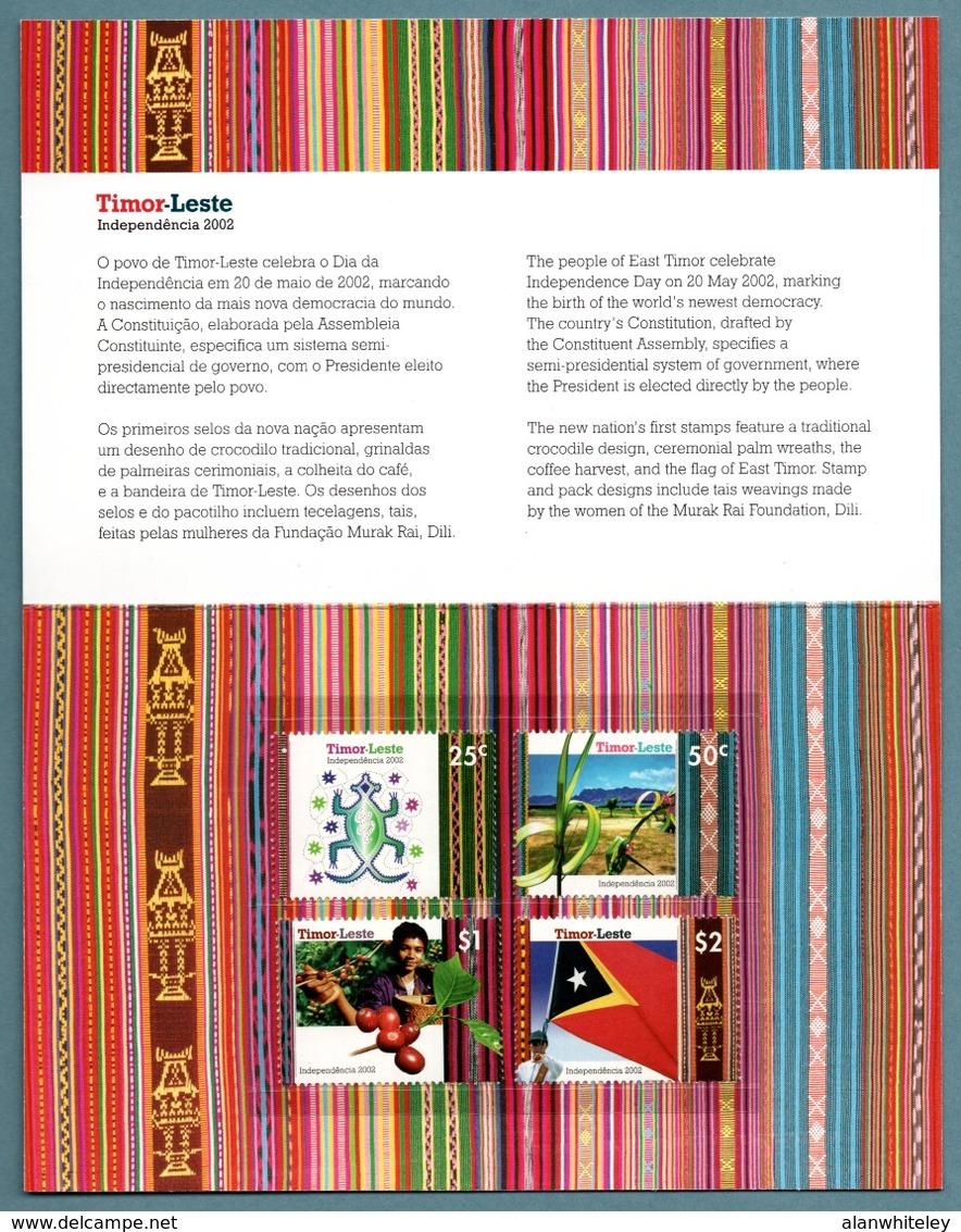TIMOR-LESTE 2002 Independence: Presentation Pack UM/MNH - Timor Oriental