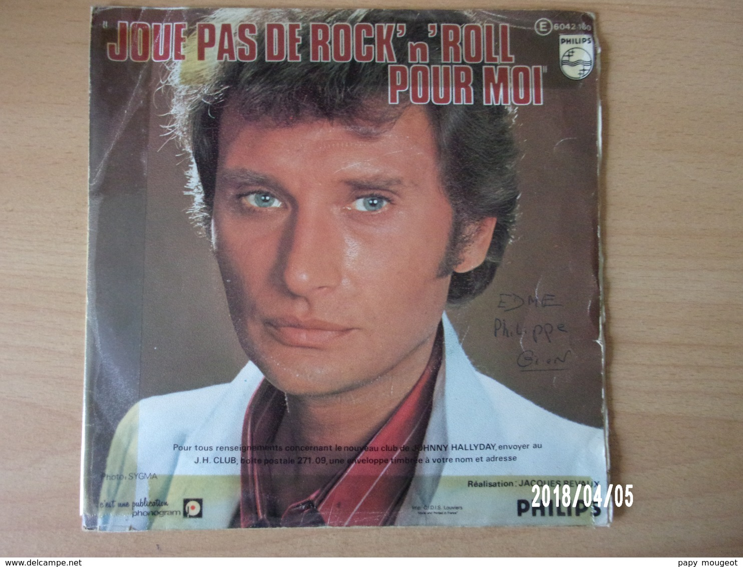 Johnny Hallyday - Derrière L'amour - Rock