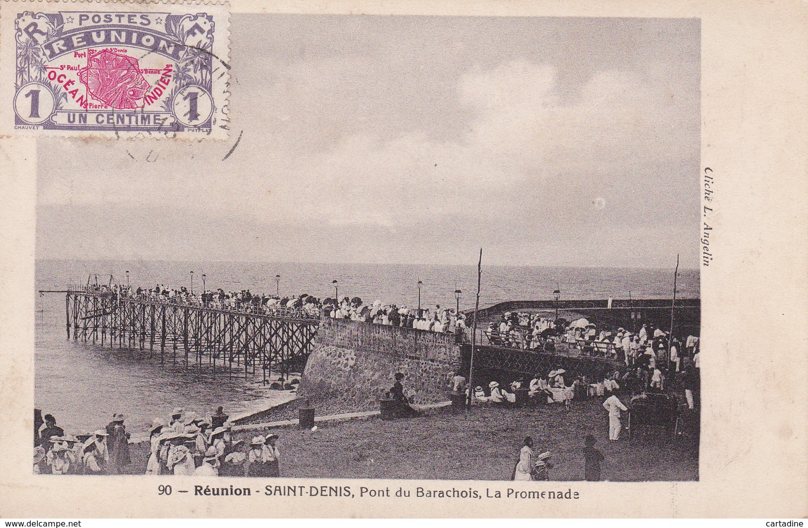 CPA - Réunion - Saint-Denis - Pont Du Barachois, La Promenade - Saint Denis