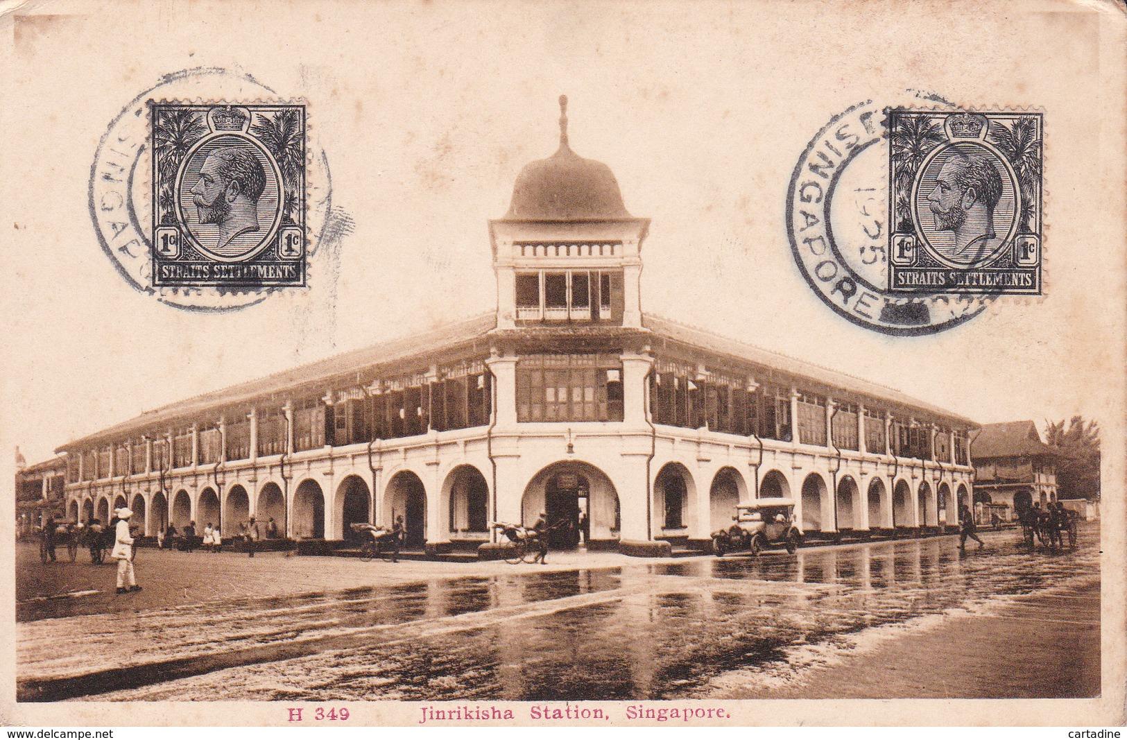 CPA - Singapore -  Jinrikisha Station - 1925 - Singapour