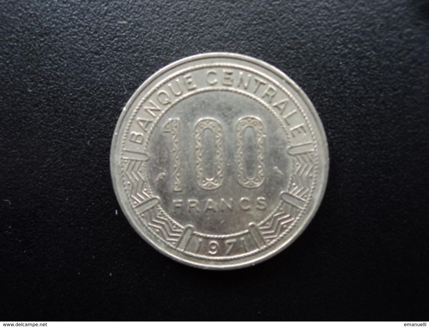 RÉPUBLIQUE POPULAIRE DU CONGO : 100 FRANCS  1971   KM 1   TTB+ - Congo (République 1960)
