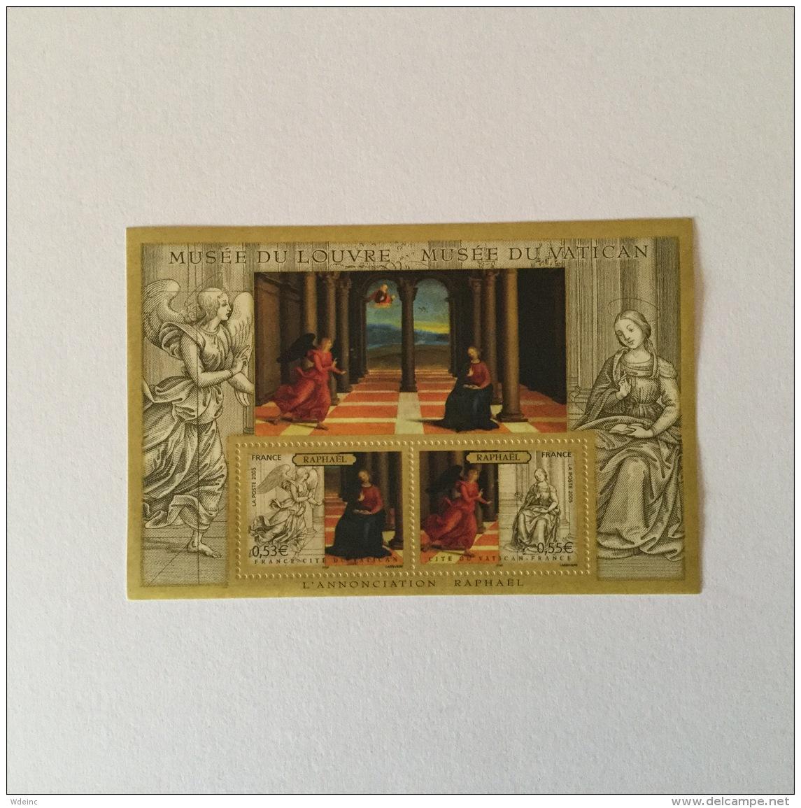 FRANCE 2005  Art 'L'Annonciation'-Raphael Feuillet  Superbe-MUH Yv90 - Blocs Souvenir