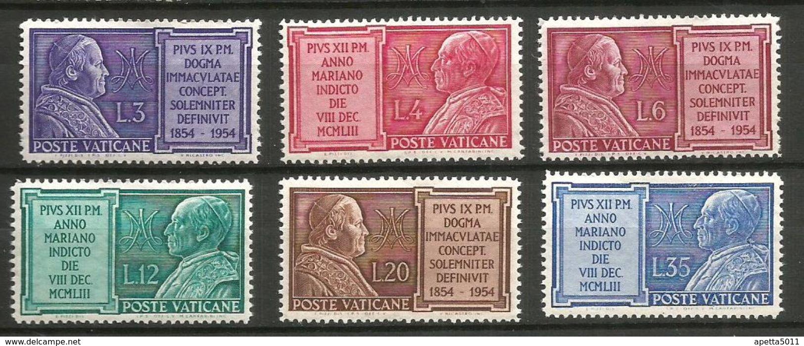 1954 VATICANO   Anno Mariano Serie Completa Nuova ** MNH - Nuovi