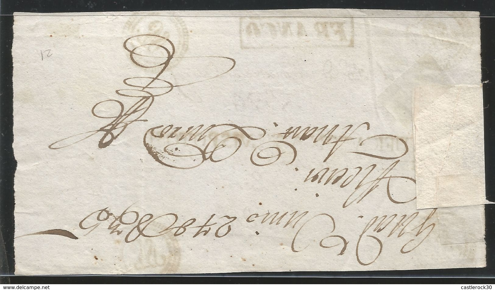 J) 1853 MEXICO, SAN LUIS POTOSI, CERTIFICATION HANDSTAMPS DATING ON REGISTERED FRONT TO GUADALCAZAR, FRANCO, XF - Mexico