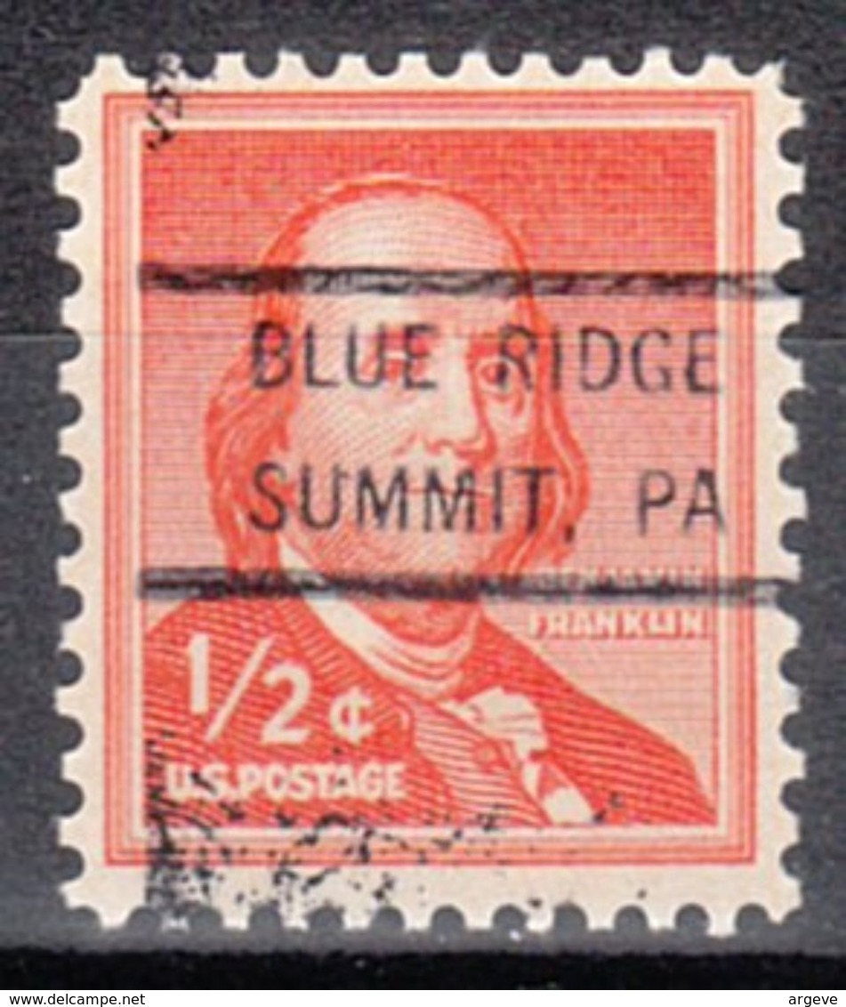 USA Precancel Vorausentwertung Preo, Locals Pennsylvania, Blue Ridge Summit 847 - Vereinigte Staaten