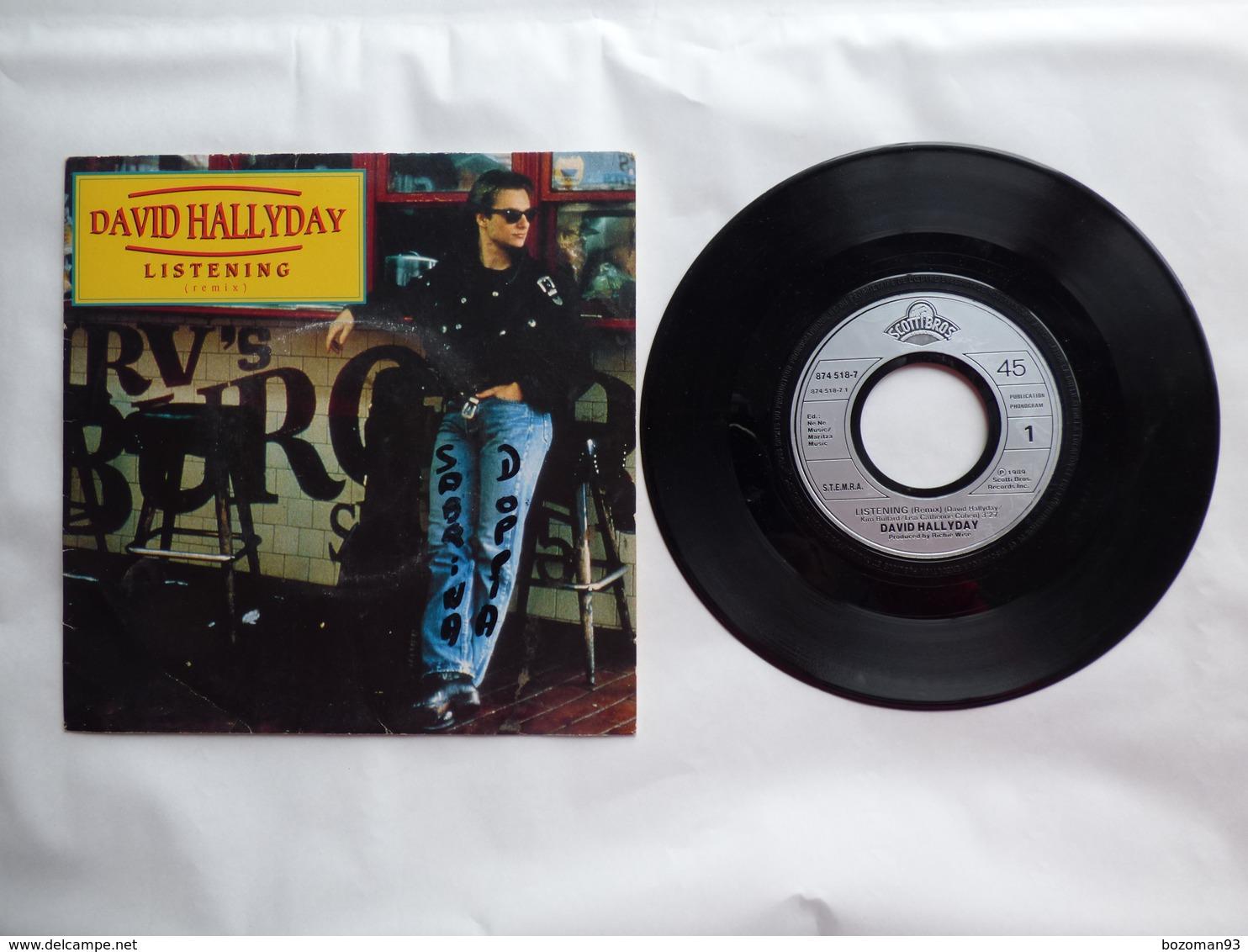 EP 45 T  DAVID HALLIDAY  LABEL SCOTTIBROS 874.518  LISTENING - Disco, Pop