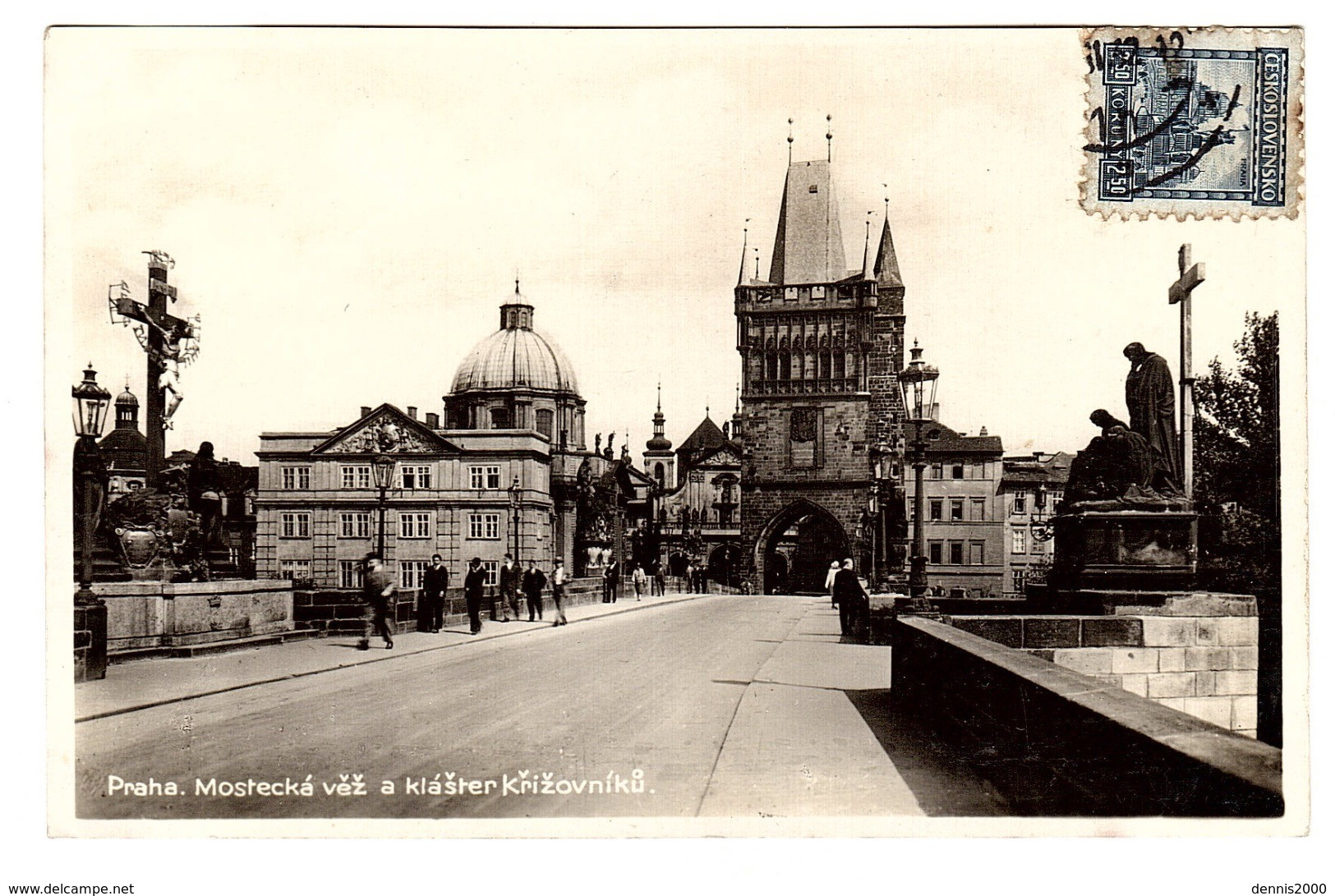 PRAGUE - PRAHA - Mostecka Vez A Klaster Krizovniku - Tschechische Republik