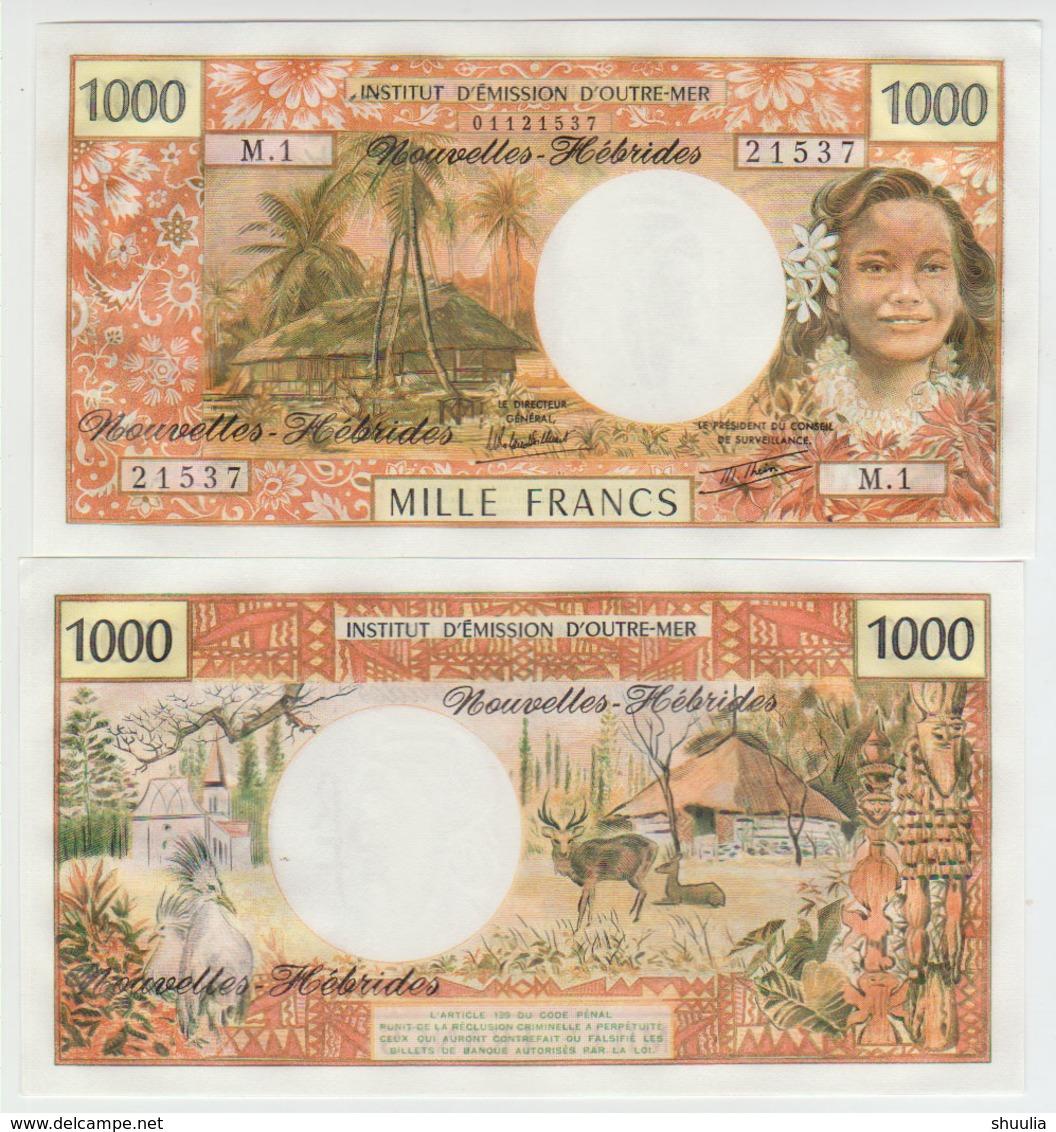 New Hebridas 1000 Francs 1988 Pick 20 UNC - Bankbiljetten