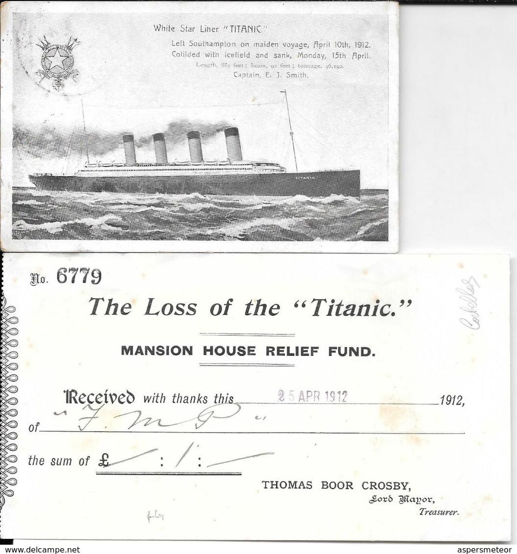 WHITE STAR LINER TITANIC CARTE POSTALE CIRCULEE MANCHESTER MAY 10 OF 1912 TO MRS. J. R. WAIN DERBYSHIRE WIRKSWORTH - 1902-1951 (Könige)
