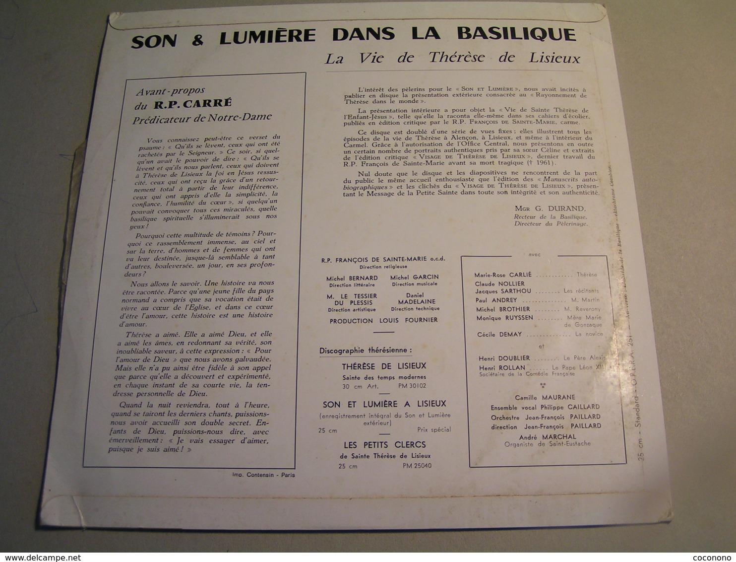 Vinyles - La Vie De Thérèse De Lisieux - 25 Cm - Gospel & Religiöser Gesang