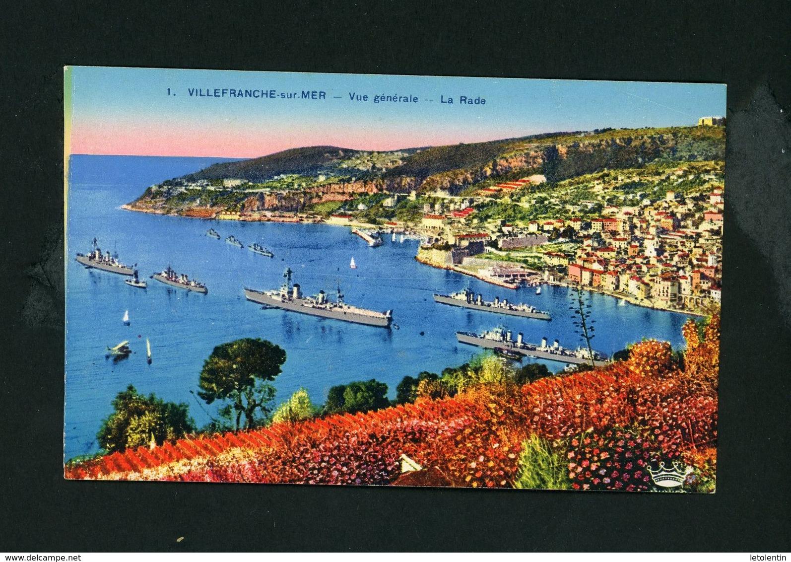 CPA - 06 - VILLEFRANCHE-SUR-MER - VUE GENERALE, LA RADE - Villefranche-sur-Mer