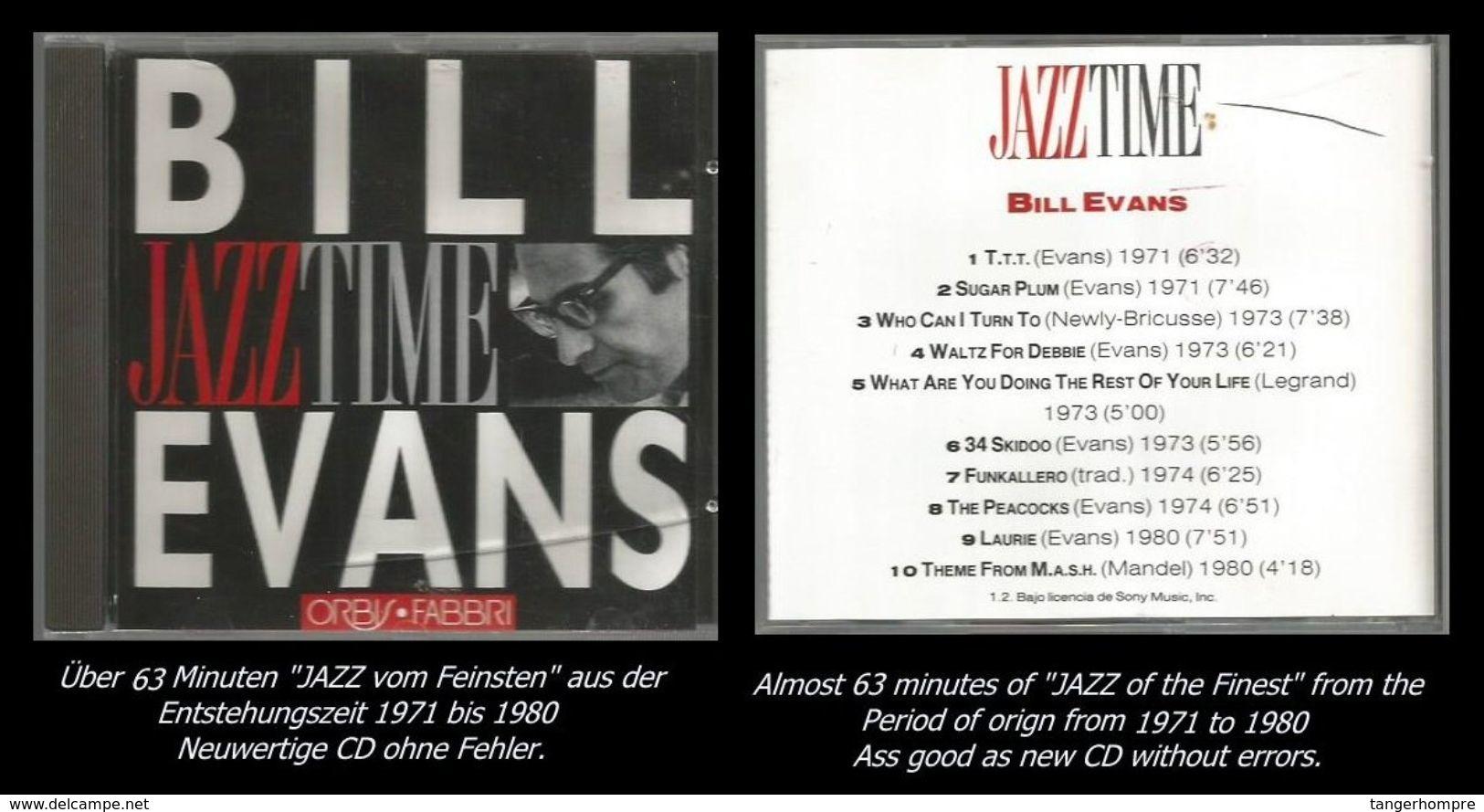 63 Minuten Jazz Von Bill Evans - Jazz Of Finest - From 1971 To 1980 - Jazz
