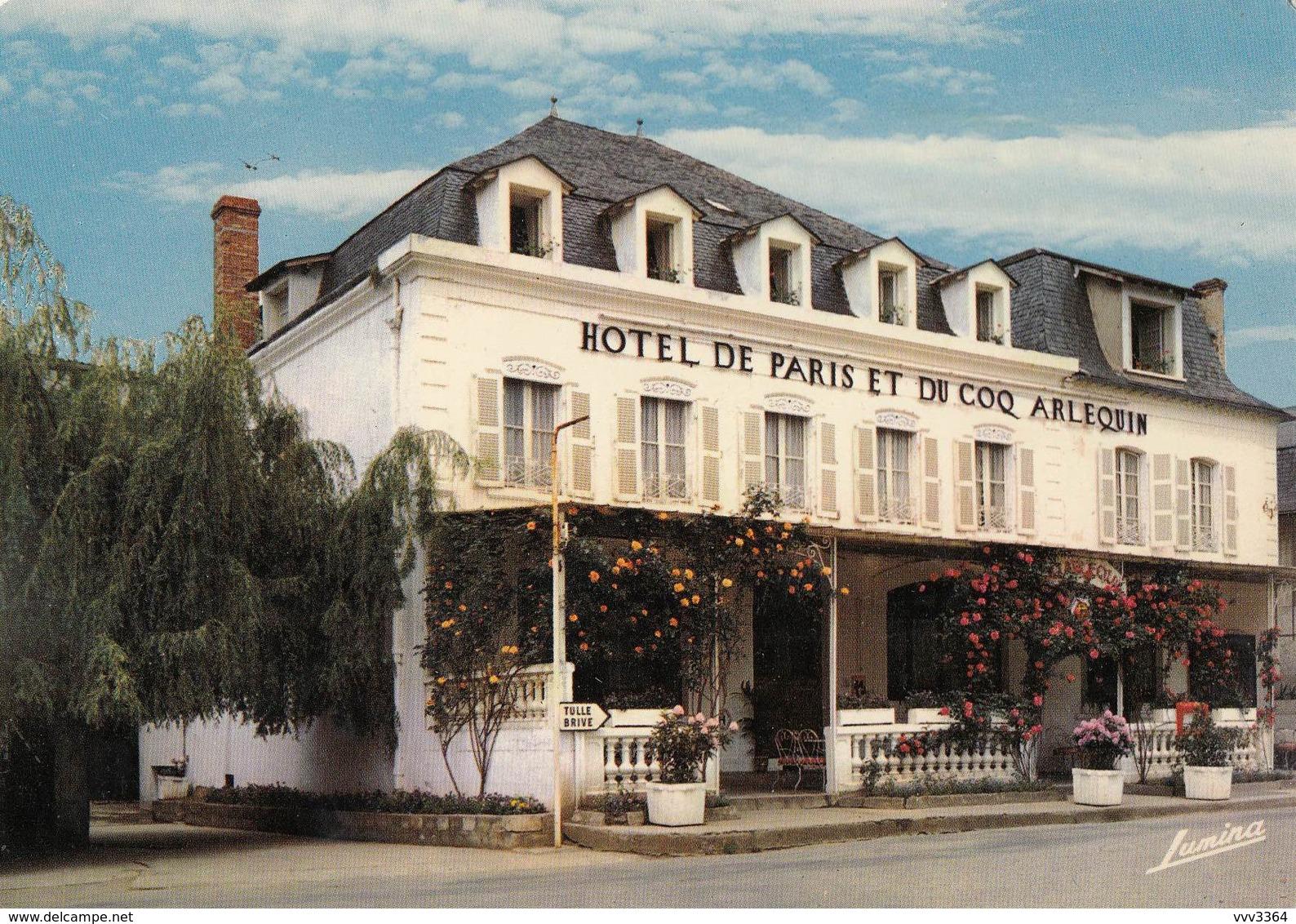 SAINT-CERE: Hôtel De PARIS Et Du COQ ARLEQUIN - Saint-Céré