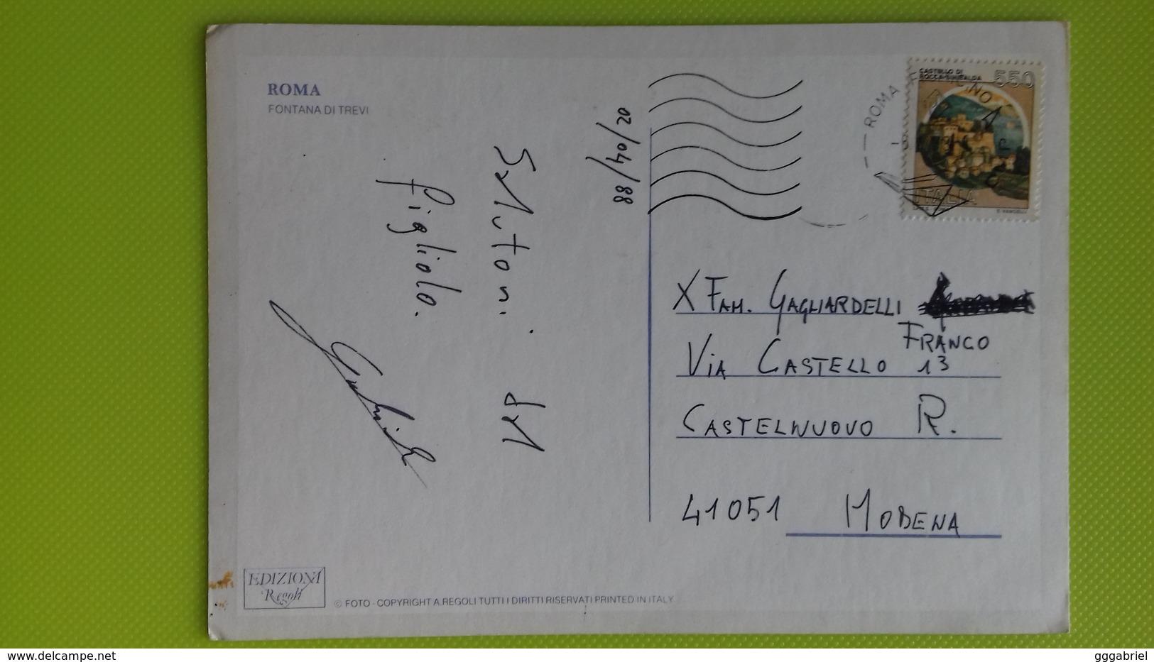 Cartolina ROMA - RM - Viaggiata - Postcard - Fontana Di Trevi - Fontana Di Trevi
