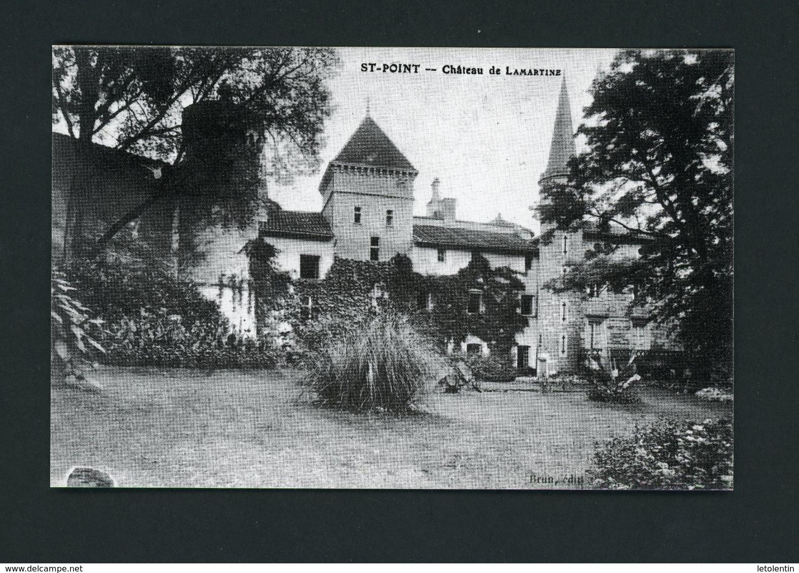 CPRepro - 71 - St-POINT - CHATEAU DE St-POINT - France