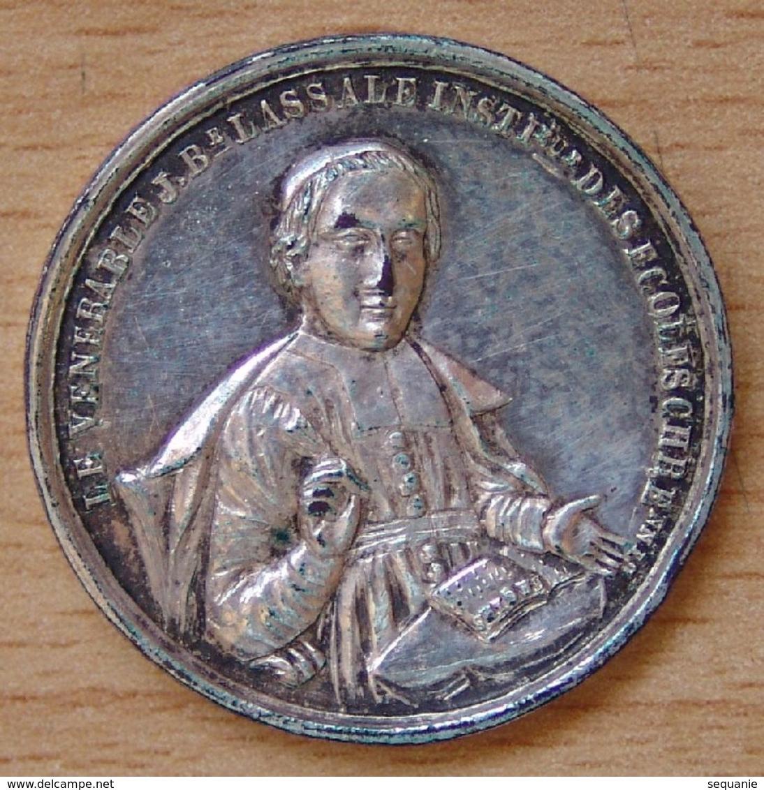 Médaille Le Vénérable JB Lassale Instituteur Des écoles Chrétiennes - Professionnels / De Société