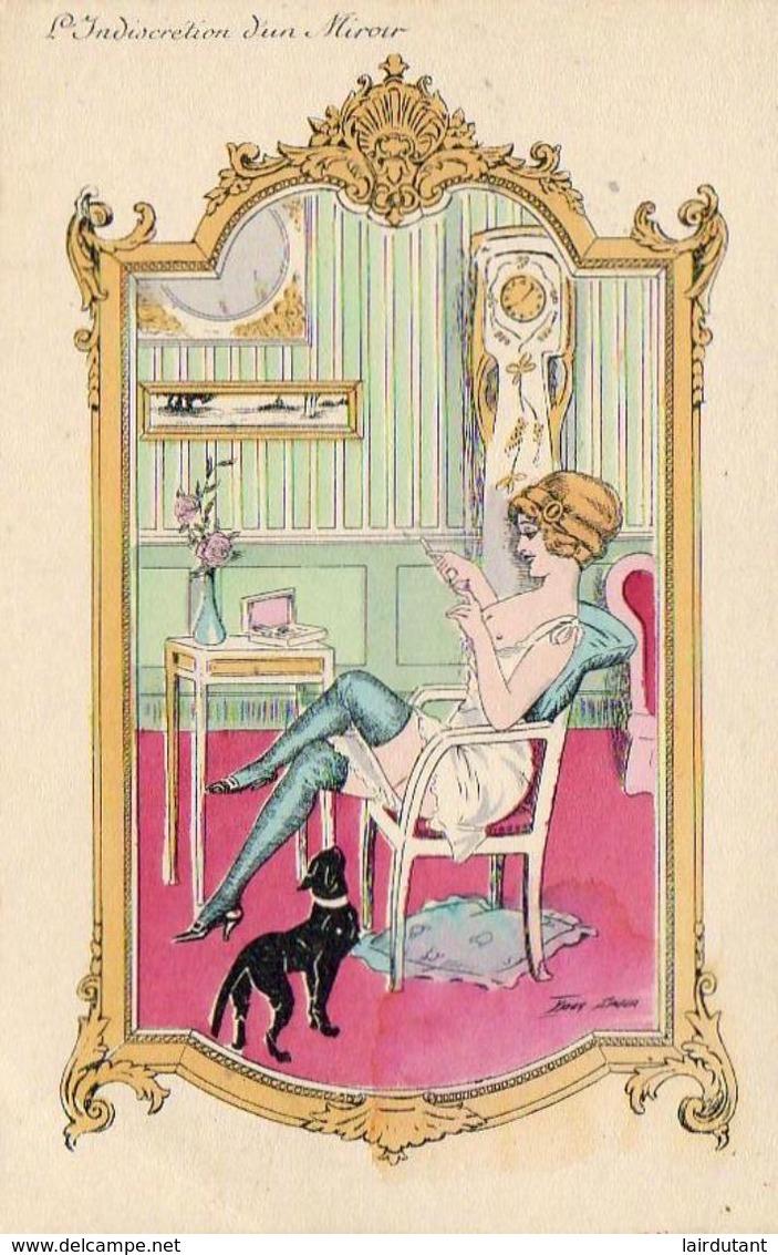 XAVIER SAGER  L'Indiscrétion D'un Miroir Série De 9 Cartes Avec Pochette .......... Très Bon état - Sager, Xavier