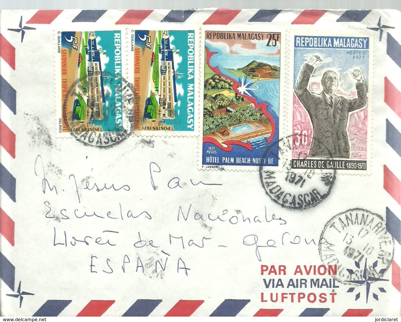 LETTER 1971 - Madagascar (1960-...)