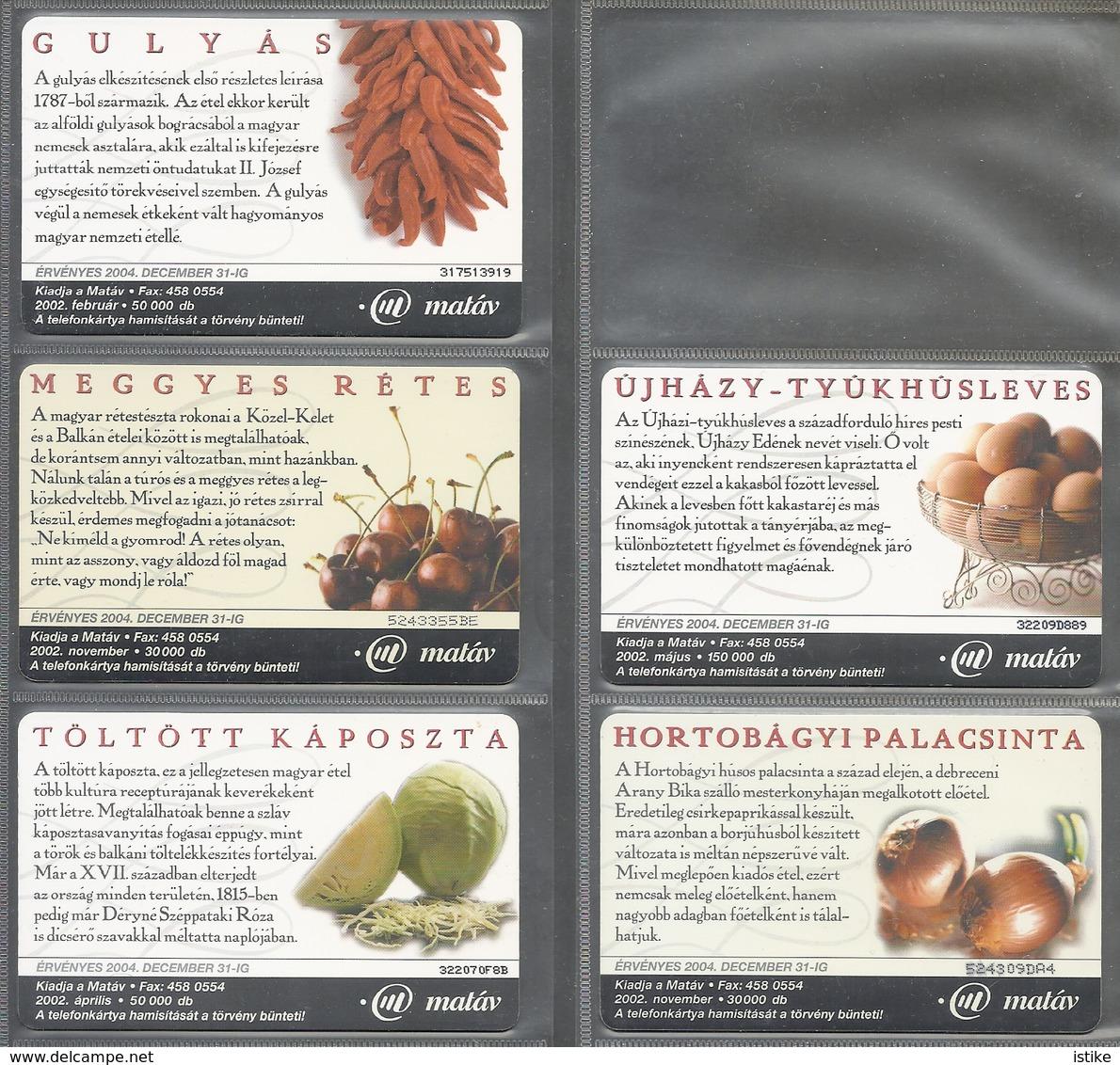Hungarian Foods, Set Of 5 Cards, 2002. - Lebensmittel