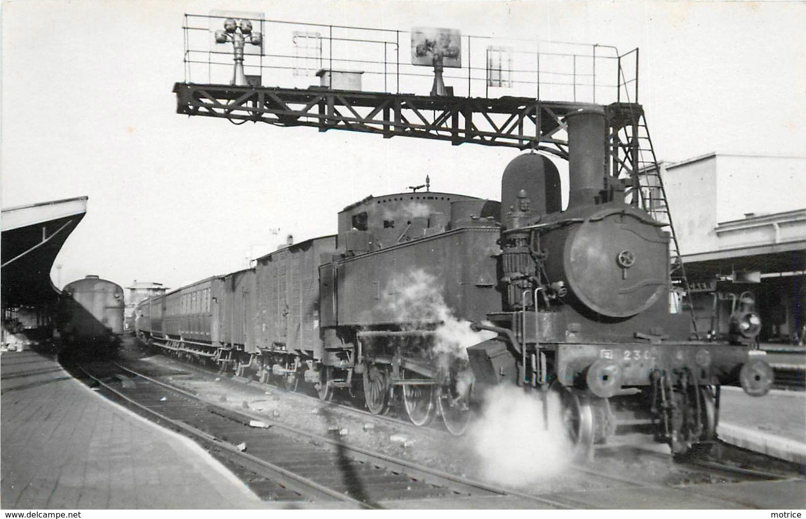 CHEMIN DE FER DE CAEN à La Mer- Train Pour Courseulles à Caen (photo De 1948 Format Carte Ancienne) - Trains