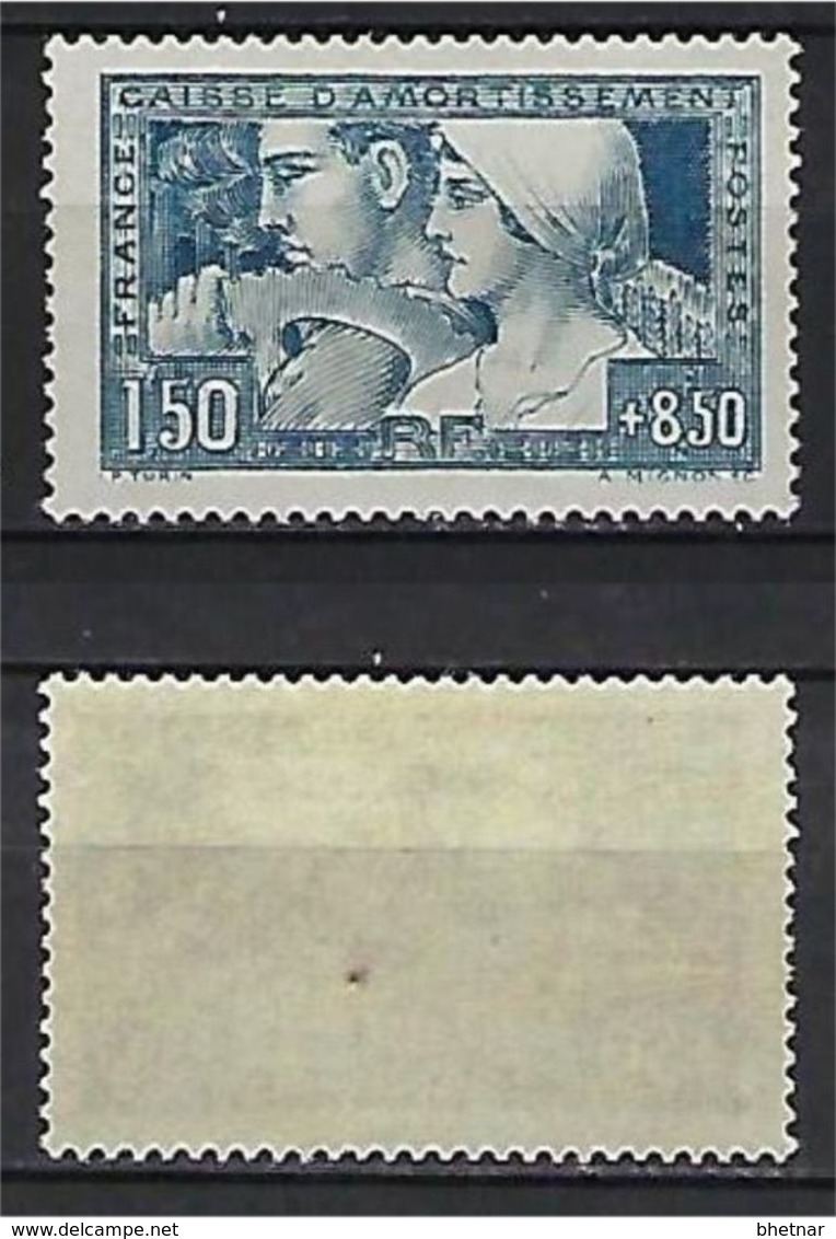 "FR YT 252  "" Caisse D'amortissement 1F50 + 8F50 Bleu "" 1928 Neuf* - Sinking Fund"