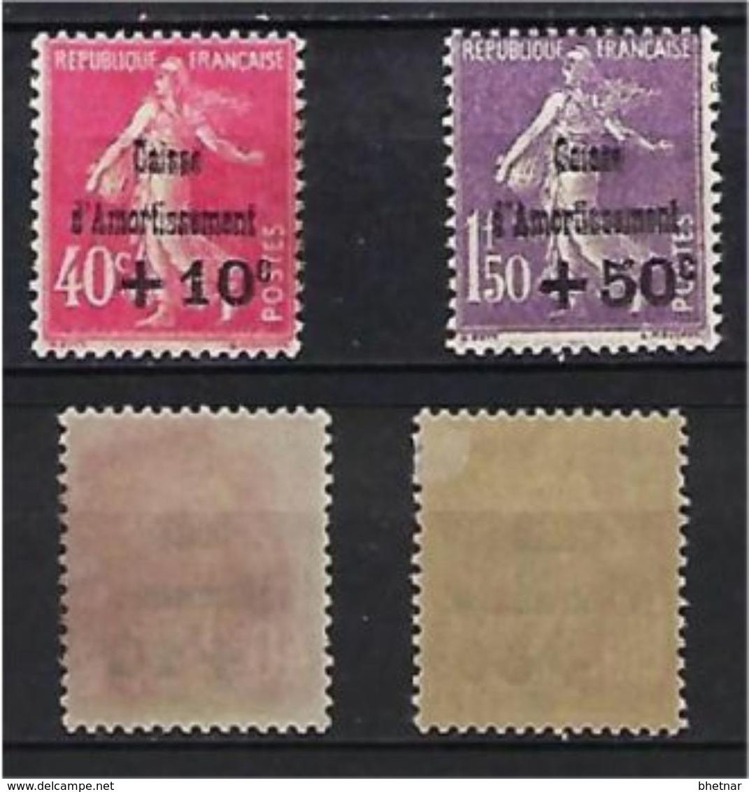 "FR YT 266 & 268 "" Caisse D'amortissement "" 1930 Neuf* - Sinking Fund"