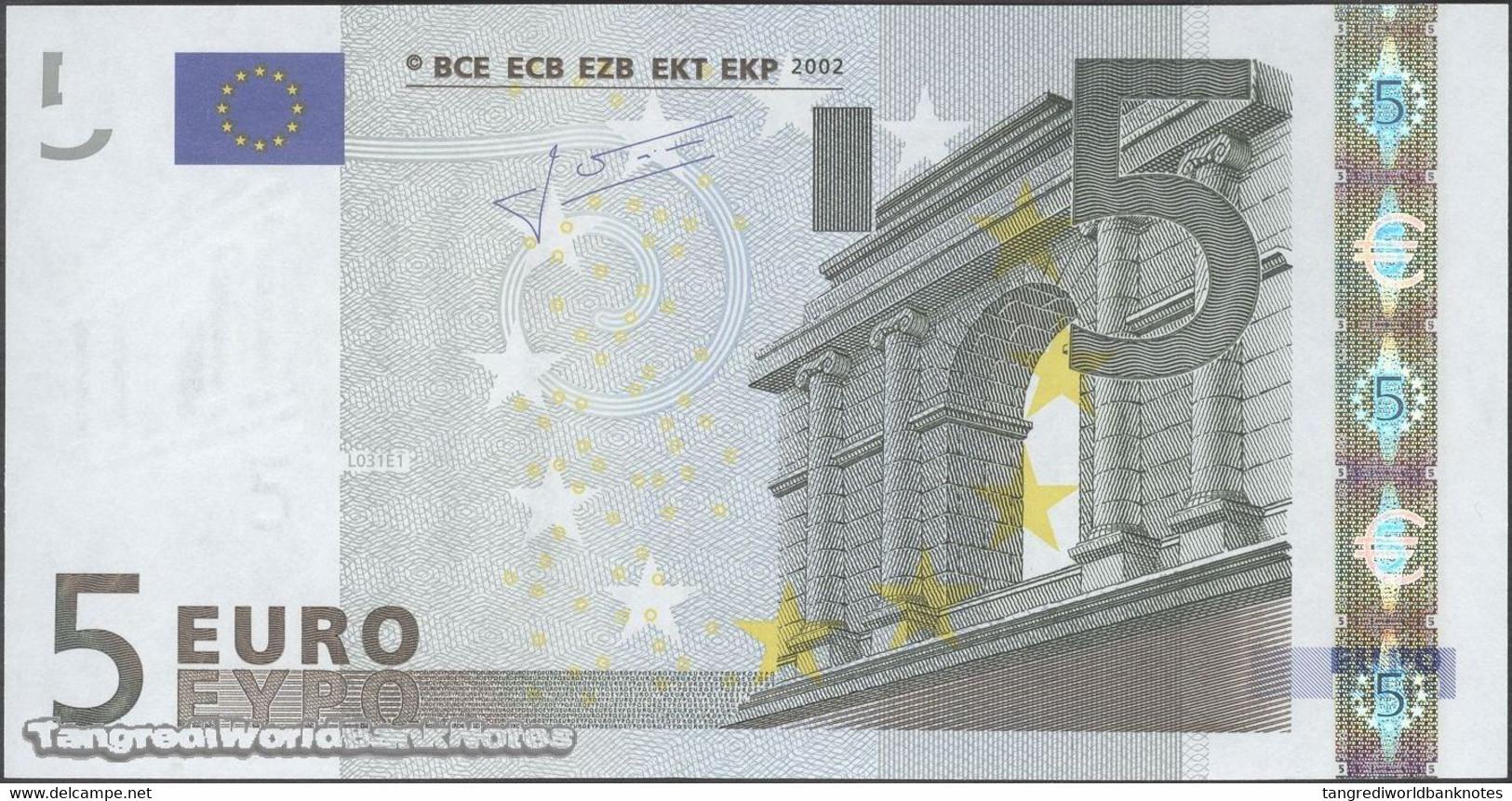 TWN - FRANCE 8U - 5 Euro 2003 Prefix U - Plate L031E1 - Signature: Trichet UNC - EURO