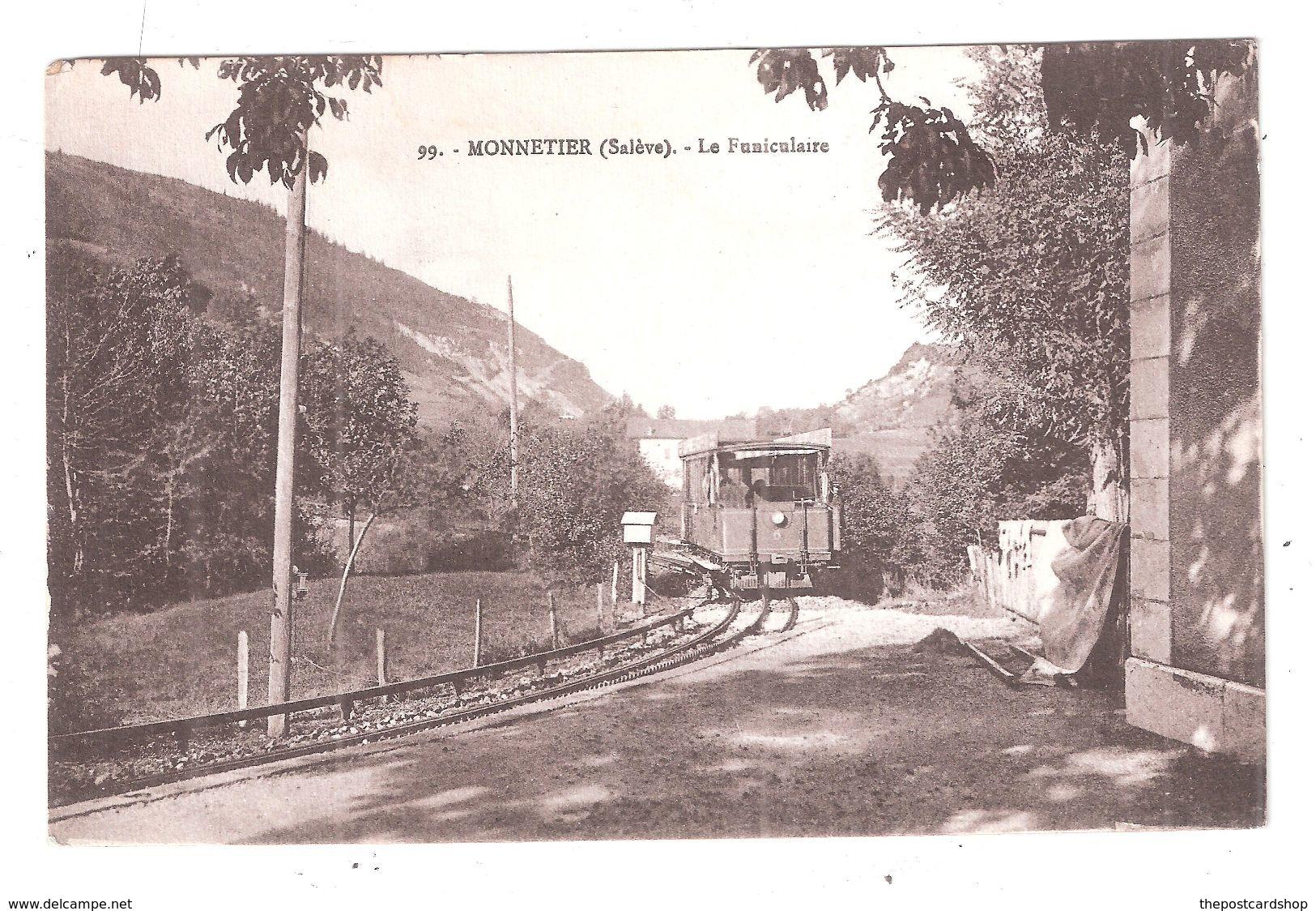 CPA 74  MONNETIER ( SALEVE ) LE FUNICULAIRE   Monnetier-Mornex - France