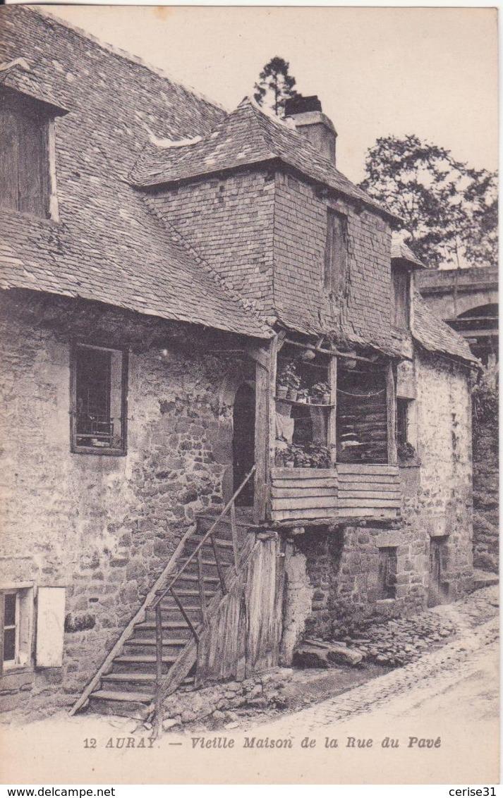CPA  - 12. AURAY - Vieille Maison De La Rue Du Pavé - Auray