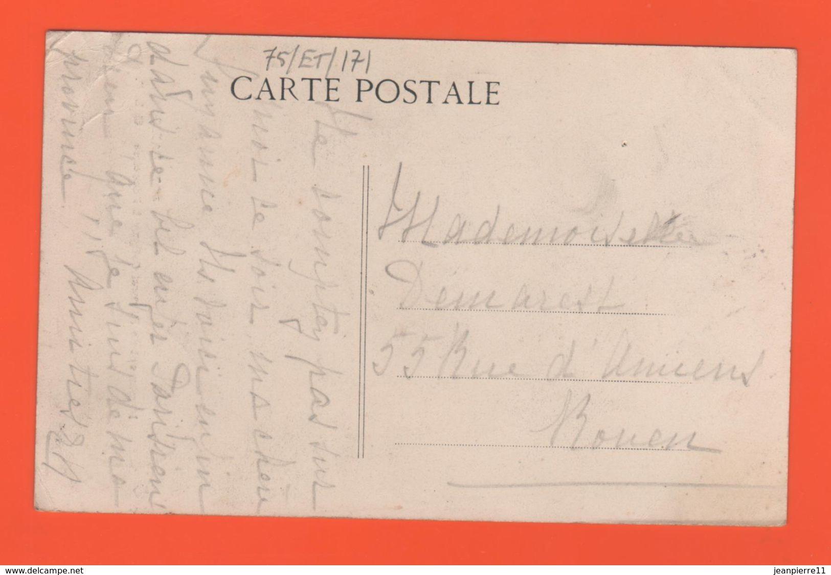 ET/171  PARIS. Monument De L'Amiral Coligny.a L Oratoire C . L .C   / écrite Timbre Cachet De La Poste 1907 - Statues