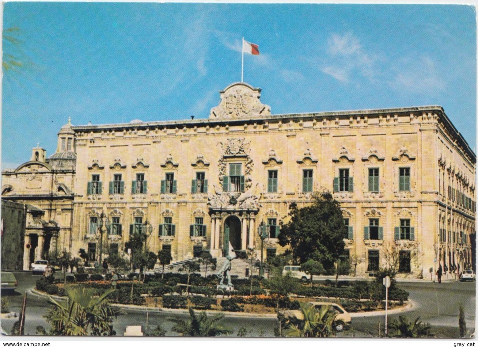 MALTA, Auberge De Castille, Valletta, Used Postcard [21063] - Malta