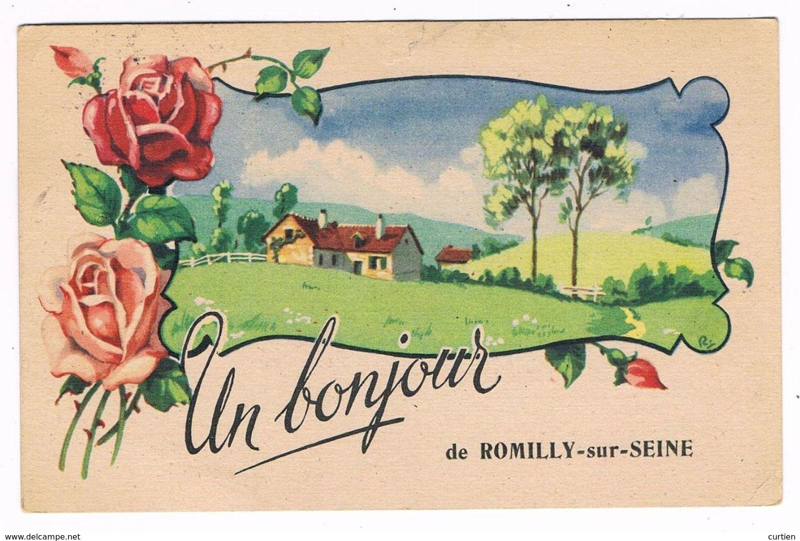 ROMILLY Sur SEINE  10  Un Bonjour 1948 - Romilly-sur-Seine