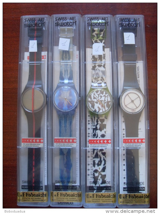Swatch 700° Anniversario Confederazione Svizzera Nuovissimi - Mai Usati Vintage - Orologi Moderni