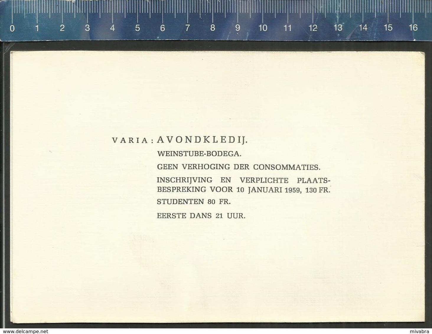MOEDER GEELSE 12e LUSTRUM 1898 - 1958 ( GEEL ) TONGERLO DANS FESTIJN 1959 - Programmes