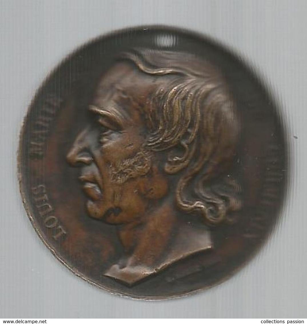 Médaille, Vicomte Louis Marie De CORMENIN , Par Rogat , 1842 , Cuivre ,2 Scans, Frais Fr 4.85e - Royaux / De Noblesse