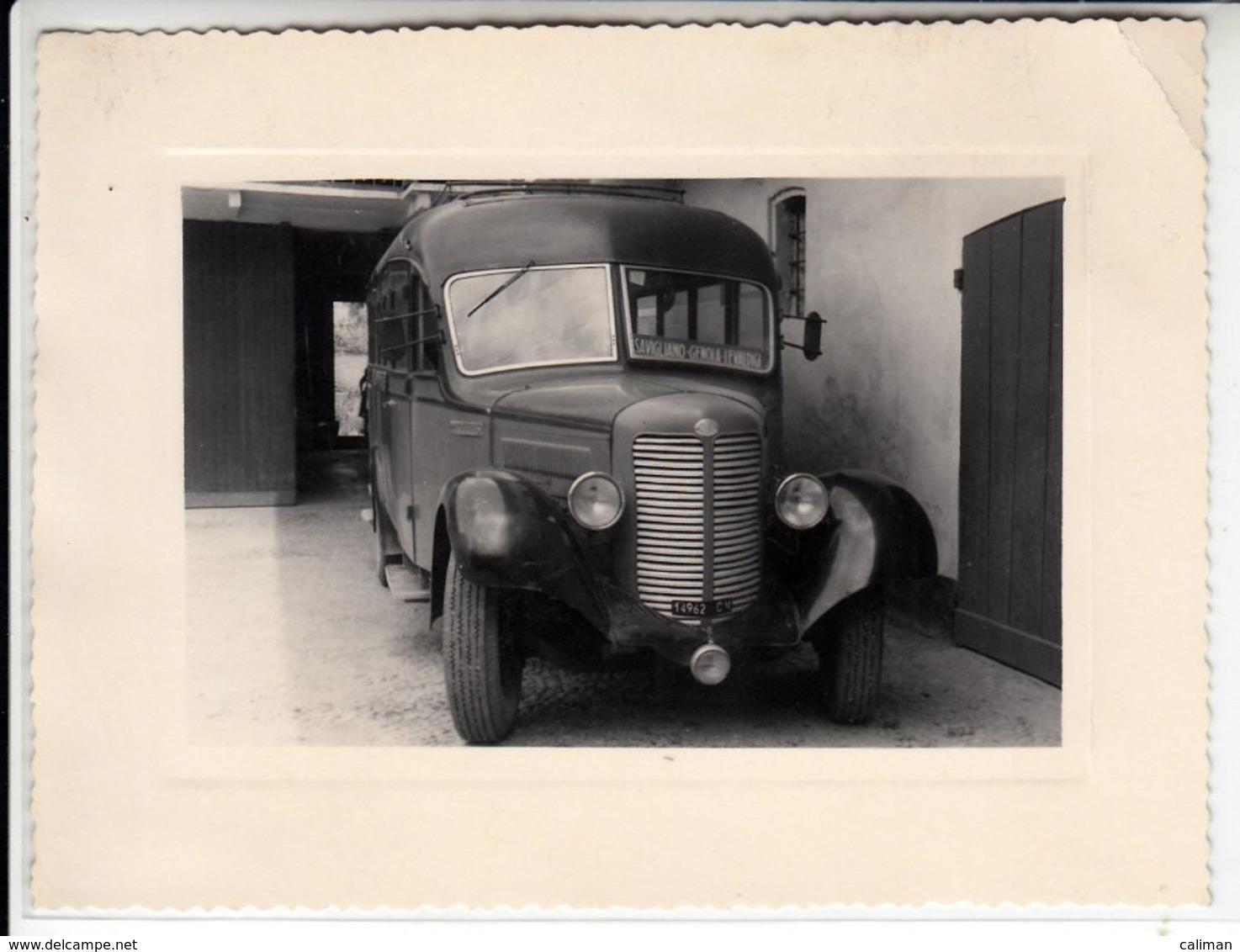 PULLMAN BUS OM TARGA CUNEO LINEA SAVIGLIANO GENOVA LEVALDIGI - FOTO ORIGINALE - Automobili