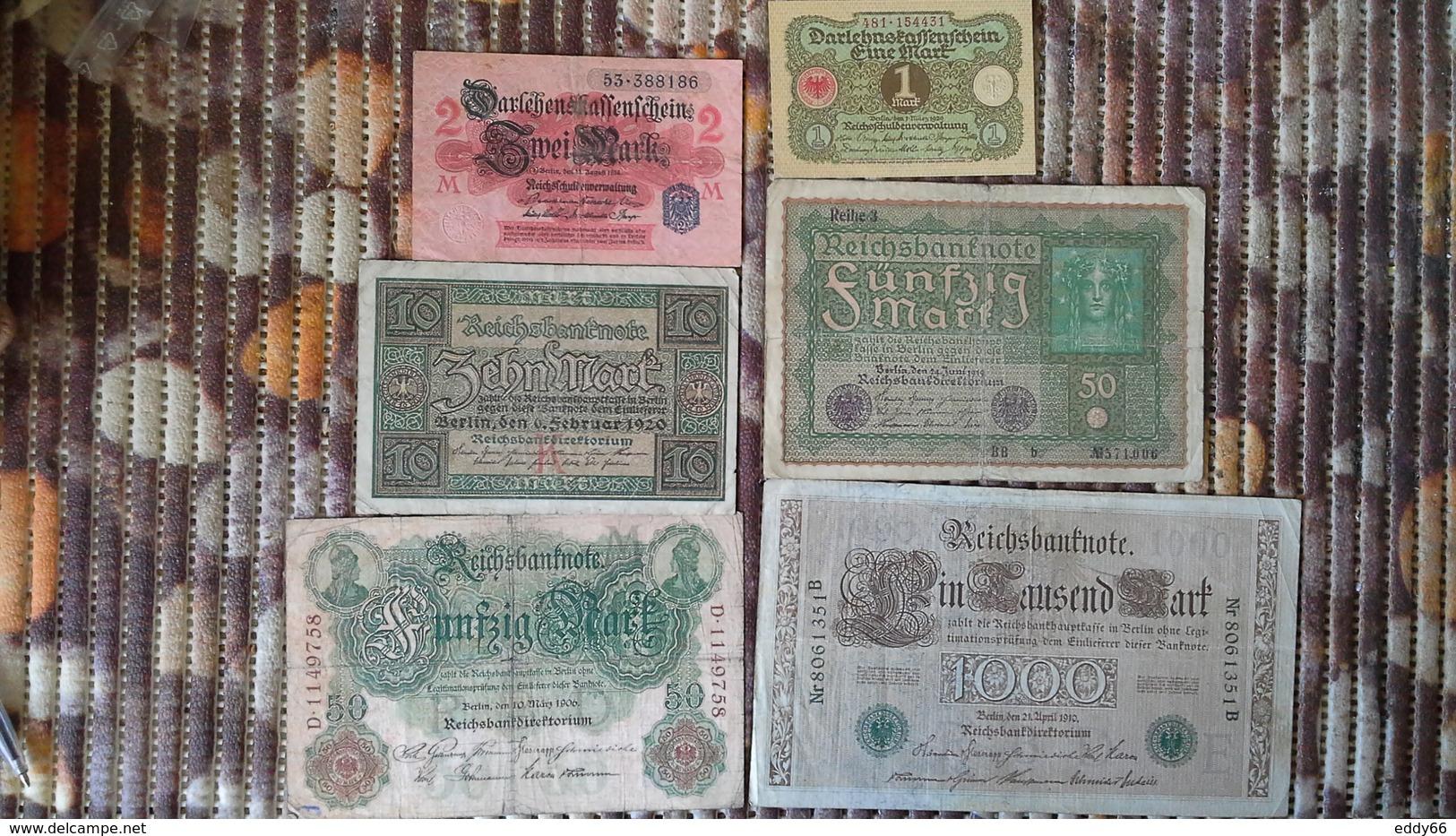 Lot Geldscheine Deutsches Reich - [ 2] 1871-1918 : Impero Tedesco