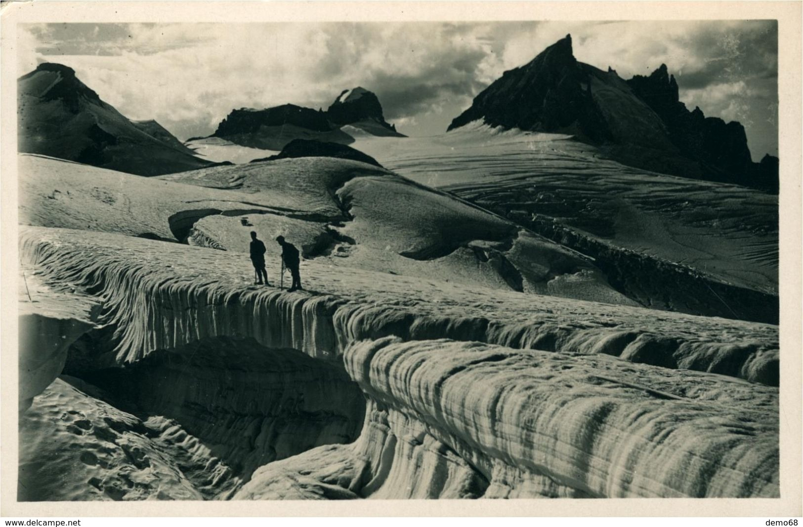 ALPINISME Glacier Alpin Spalten Mer De Glace Et Séracs Superbe Photo - Alpinisme