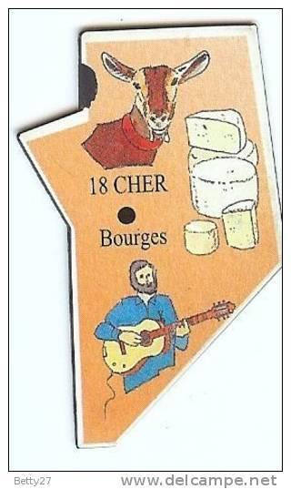 18  Magnet Le Gaulois Departement 18 Cher Bourges - Magnets