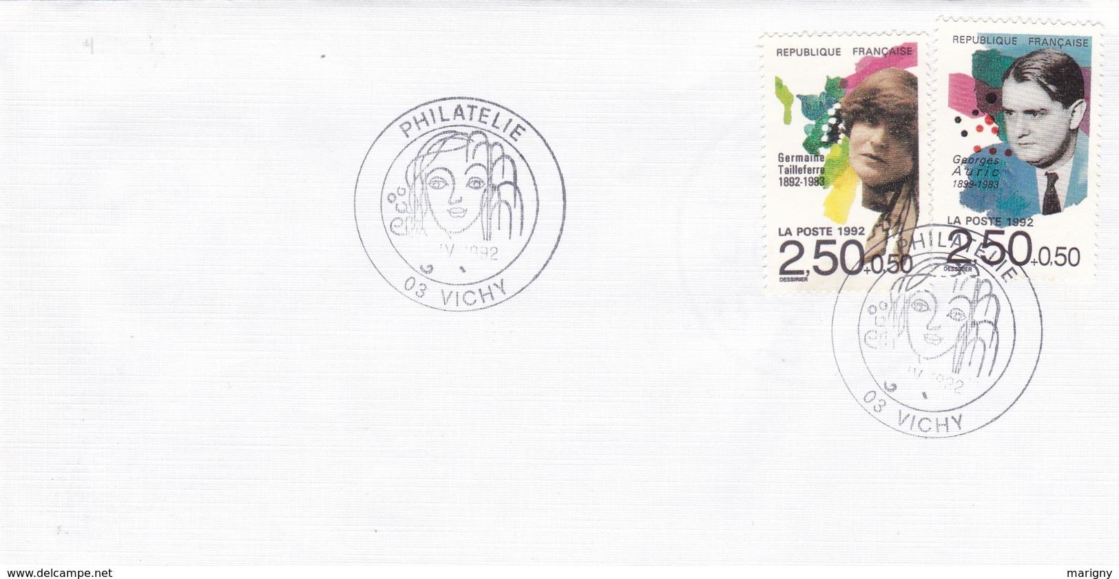 Cachets Commémoratifs Philatélie De VICHY . - Poststempel (Briefe)