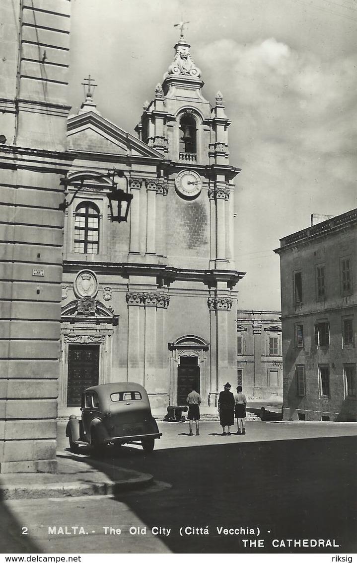 Malta - The Old City. (Citta Veccia)  The Cathedral   S-289 - Malta