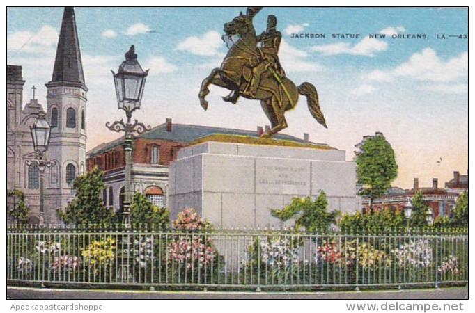 Louisiana New Orleans Jackson Statue 1949