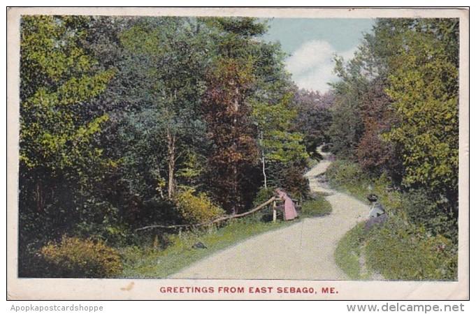 Maine Greetings From East Sebago 1915