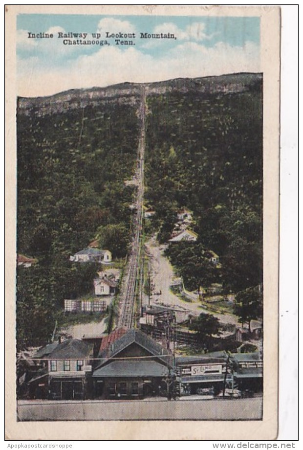 Tennessee Chattanooga Incline Railway Up Lookout Mountain 1918