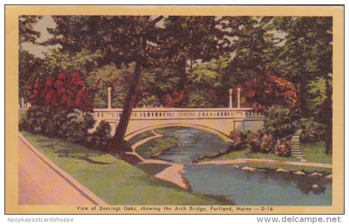 Maine Portland Arch Bridge At Deering Oaks Dexter Press